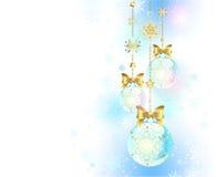Blauwe Kerstmissnuisterijen vector illustratie