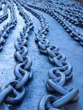 Blauwe kettingen Royalty-vrije Stock Afbeelding
