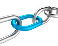 Blauwe Kettingsverbinding Stock Fotografie
