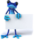 Blauwe kikker royalty-vrije illustratie
