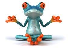 Blauwe kikker Stock Foto's