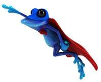 Blauwe kikker stock illustratie