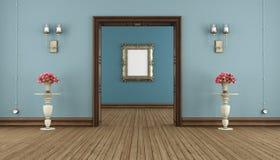 Blauwe klassieke ruimte Stock Foto's