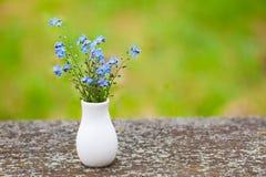 Blauwe kleine bloemen Stock Afbeelding