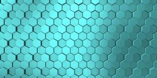 Blauwe kleur in decoratieve oppervlakte met verschillende niveaus vector illustratie