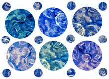 Blauwe kleurenmelodie Stock Foto
