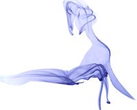 Blauwe kleurenrook stock fotografie