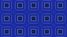 Blauwe kleurrijke abstracte vierkanten voor muziekvideo Geanimeerd Computerontwerp vector illustratie
