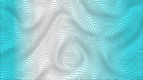 Blauwe kleurrijke curvy geometrische het patroontextuur van de lijnengolf op kleurrijke achtergrond vector illustratie