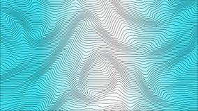 Blauwe kleurrijke curvy geometrische het patroontextuur van de lijnengolf op kleurrijke achtergrond royalty-vrije illustratie