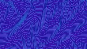 Blauwe kleurrijke curvy geometrische het patroontextuur van de lijnengolf op kleurrijke achtergrond stock illustratie