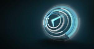 Blauwe klok die zeer snel tikken stock footage