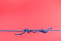 Blauwe knoop Royalty-vrije Stock Afbeeldingen