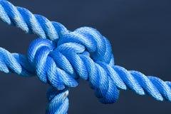 Blauwe knoop Stock Fotografie