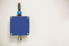 Blauwe knoop de muur Royalty-vrije Stock Foto's