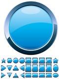 Blauwe knopen stock illustratie