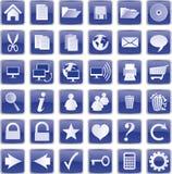 Blauwe knopen Royalty-vrije Stock Afbeelding