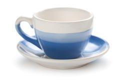 Blauwe koffiekop. geïsoleerdb Stock Afbeeldingen