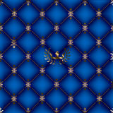 Blauwe Koninklijke Achtergrond stock illustratie