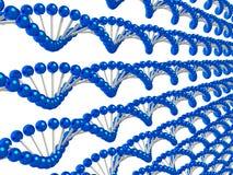Blauwe koorden van genetische codeachtergrond Stock Afbeeldingen