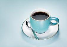 Blauwe Kop van Koffie Stock Foto