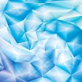 Blauwe kristalachtergrond Royalty-vrije Stock Foto's