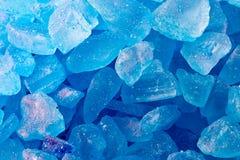 Blauwe kristallen royalty-vrije stock foto