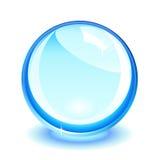 Blauwe kristallen bol Stock Foto