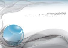 Blauwe kristallen bol en rook Royalty-vrije Stock Afbeelding