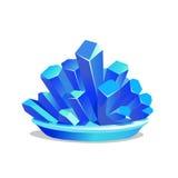 Blauwe kristallen van kopersulfaat Stock Foto