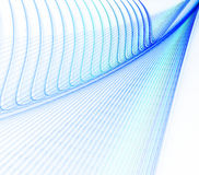 Blauwe krommen Royalty-vrije Stock Afbeelding