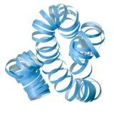 Blauwe krullende partijwimpel   Stock Afbeelding