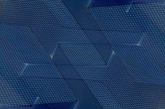 Blauwe Kubistische Achtergrond Stock Afbeelding