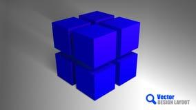 Blauwe Kubussen Stock Afbeeldingen