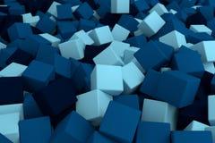Blauwe Kubussen Stock Foto
