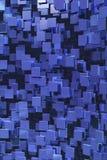 Blauwe kubussenachtergrond Stock Afbeelding