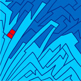 Blauwe kunstachtergrond Royalty-vrije Stock Afbeeldingen