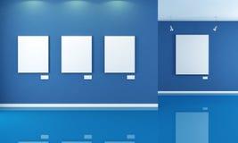 Blauwe kunstgalerie Royalty-vrije Stock Afbeeldingen