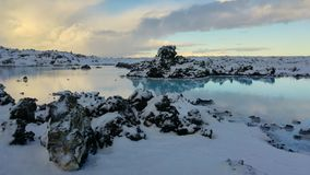 Blauwe Lagune Blà ¡ een Là ³ nið stock fotografie
