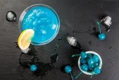 Blauwe lagune of blauwe curacao royalty-vrije stock foto