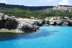 Blauwe lagune, Cyprus Stock Afbeelding