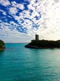 Blauwe lagune de Bahamas Stock Afbeeldingen