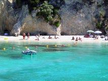 Blauwe Lagune Griekenland Royalty-vrije Stock Foto's