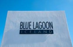 Blauwe lagune in IJsland Royalty-vrije Stock Foto's