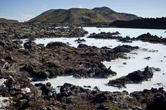 Blauwe Lagune IJsland Royalty-vrije Stock Foto's