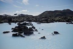 Blauwe Lagune IJsland Stock Foto's