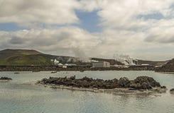 Blauwe lagune in IJsland royalty-vrije stock afbeelding