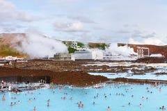 Blauwe Lagune, IJsland - Augustus 02, 2014 Royalty-vrije Stock Afbeeldingen