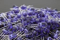 Blauwe LEDs 5mm Royalty-vrije Stock Afbeeldingen