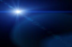 Blauwe lensgloed vector illustratie